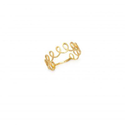 """Sparkle -  - Το συγκεκριμένο χρυσό δαχτυλίδι δίνει έναν τόνο """"sparkle"""" όταν το φοράτε! Ιδιαίτερο και fun!  Υλικό: Χρυσό 14κ"""