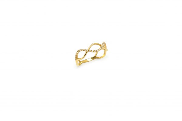 DNA -  - The DNA in gold was particularly design to represent the DNA form and its significance and importance . Airy giving you the impression of a light movement, it's going to shine bright on you. A love at first sight.  Material: 14k gold with white zircons