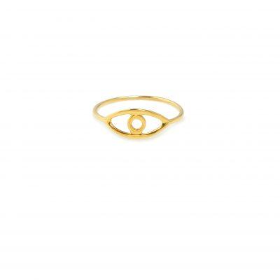 "Look -  - To χρυσό δαχτυλίδι ""Look"" σας συνοδεύει όλες τις ώρες της ημέρας όπου και αν βρεθείτε!Προτείνουμε να φορεθεί μαζί με περισσότερα δαχτυλίδια.  Υλικό: Χρυσό 14κ"