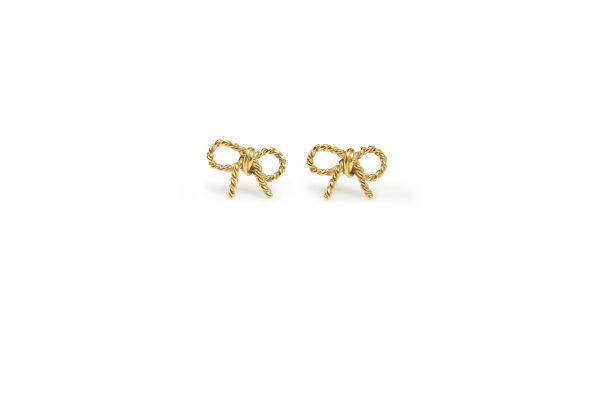 Bow -  - Ανάλαφρα και χαρούμενα χρυσά φιογκάκια 14κ. Σχεδιασμένα με πολύ ενθουσιασμό που θα σας ανεβάζουν τη διάθεση κάθε φορά που τα φοράτε! Υλικό: Χρυσό 14κ