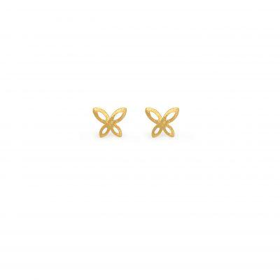 Butterfly -  - Χρυσά σκουλαρίκια 14κ σε σχήμα πεταλούδας. Ανάλαφρα και χαρούμενα που θα σας συνοδεύουν όλες τις ώρες της ημέρας.  Υλικό: Χρυσό 14κ