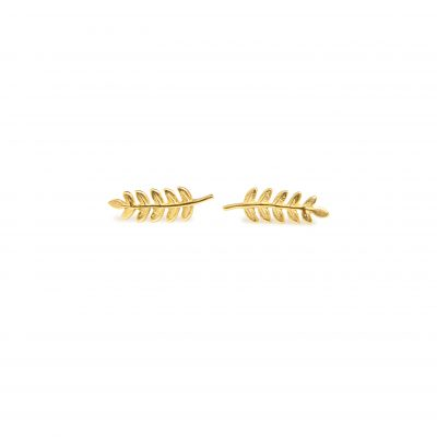 Fern -  - Dainty, delicate and lightweight earrings forming a fern leaf. You will be impressed just by wearing them for sure! Material: 14k gold