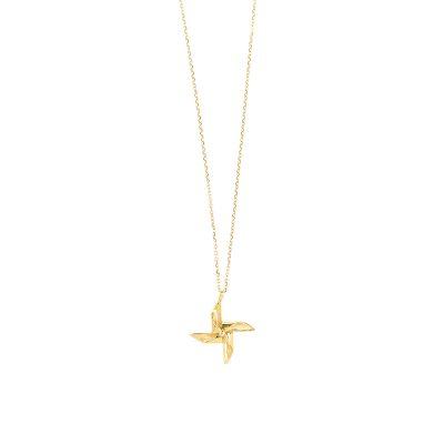 Windmill -  - Χρύσος 14κ mini ανεμόμυλος σε χρυσή αλυσίδα 14κ που δίνει μια αίσθηση αέρινης κίνησης κοσμώντας το λαιμό σας! Υλικό: Στοιχείο και αλυσίδα χρυσό 14κ