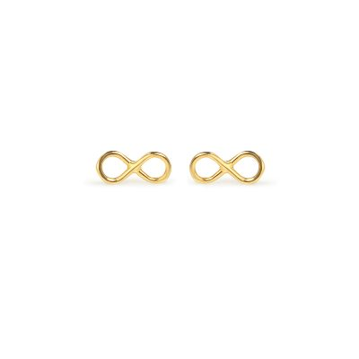To infinity and beyond -  - 14k gold infinity earrings. Dream, don't limit yourself, and feel cinfident wearing this gorgeous jewel!  Material: 14k gold