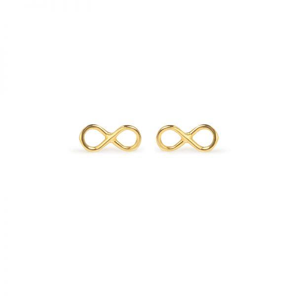 To infinity and beyond -  - Χρυσά σκουλαρίκια infinity 14κ. Ονειρευτείτε, μην βάζετε όρια στον ευατό σας και νιώστε άνετες σε αυτό το υπέροχο διακριτικό κόσμημα! Υλικό: Χρυσό 14κ