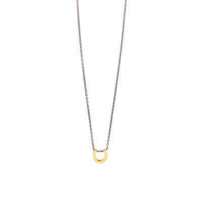 Lucky Petal -  - Κοντό κολιέ με χρυσό 14κ πεταλάκι για να σας φέρνει τύχη! Διακριτικό και κομψό με το αιώνιο σύμβολο της τύχης να κοσμεί το λαιμό σας!  Υλικό: Χρυσό 14κ σε ασημένια οξειδωμένη αλυσίδα