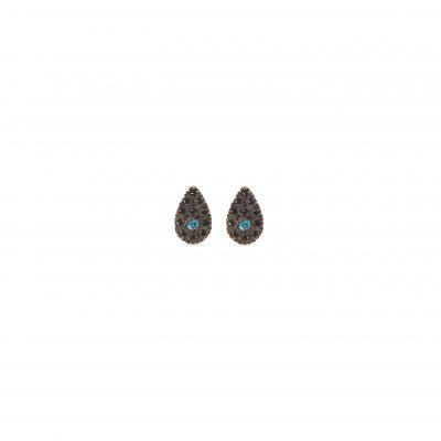 Black diamond eye earrings -  - <div>Xρυσά σκουλαρίκα 14κ σε σχήμα drop με μαύρα και μπλε ζιργκόν στη μέση. Ιδιαίτερα κομψά για να δώσουν glam σε κάθε σας εμφάνιση.</div> <div></div> <div></div> <div>Yλικό: χρυσό 14Κ</div>