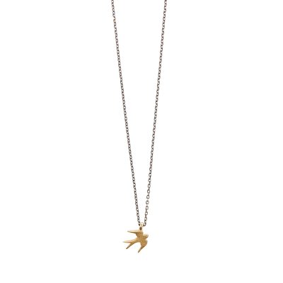 Swallow bird necklace -  - <div>Κοντό κολιέ με χρυσό 14κ χελιδονάκι για να σας θυμίζει την ελπίδα και την αθωότητα. To χελιδόνι συμβολίζει την ανανέωση, τα νέα ξεκινήματα και την αγνότητα. Κομψό και διακριτικό κολιέ για να κοσμεί υπέροχα το λαιμό σας όλες τις ώρες της ημέρας.</div> <div></div> <div>Μήκος: 40 cm</div> <div></div> <div>Yλικό: χρυσό 14Κ</div>