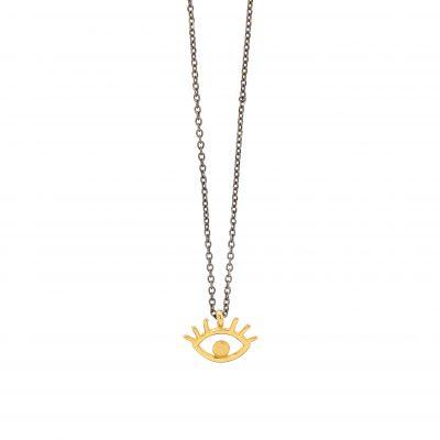 Eyelashes necklace -  -