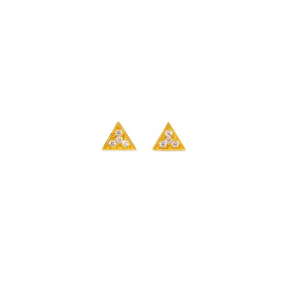 Sparkling Triangle Earrings -  -