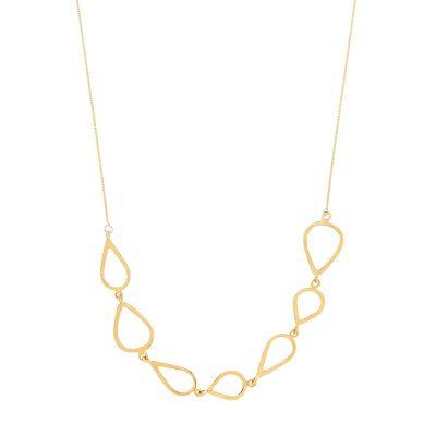 "Daphne Necklace -  - <div>Ιδιαίτερα κομψά, λιτά και αέρινα κοσμήματαπου αποπνέουν την αίσθησηαπαράμιλλης ομορφιάς και σύγχρονης πολυτέλειας.</div> <div></div> <div> <div dir=""ltr""> <div dir=""ltr"">Εκλεπτυσμένο και ευκολοφόρετο μοναδικό κολιέ χρυσό με πλέξεις χρυσών φύλλων για μοναδικές εμφανίσεις!</div> </div> <div> <div id="":o7"" role=""button"" data-tooltip=""Show trimmed content"" aria-label=""Show trimmed content""></div> </div> </div>"