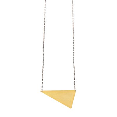 Dalton Necklace Small -  - Gold plated long necklace with perfectly geometric design made of silver 925 . Simple, unique and easy-to-wear since you can combine it with other necklaces from the collection like Geometry or Sailormoon.