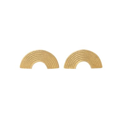 Iokasti Earrings -  - A geometric pair of earrings that comes in silver oxidized 925 or gold plated. Semicircles that can be worn from every side. Simple and geometric, these earrings take you back to an ancient Greek era but with a modern twist.