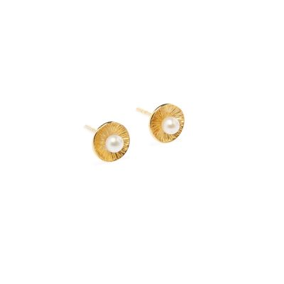 Mademoiselle Earrings -  - A dreamy pair of 14K gold earrings with a pearl - all-time-classic choice. Lightweight and ideal to match any outfit or occasion. With an exceptional design, this combination of gold and pearls will make you stand out. What would make a more beautiful gift than that?