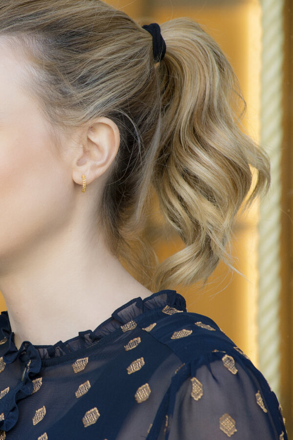 Rock n Roll Earrings -  - Χρυσά 14Κ σκουλαρίκια σε ημικύκλιο σχήμα πλεκτής αλυσίδας. Εντυπωσιακά και μοντέρνα θα δώσουν ένα δυναμικό αέρα στηνεμφάνισή σου!