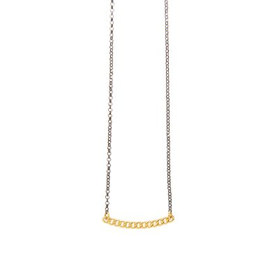 Rock n Roll Necklace -  - This year's absolute trend in its most minimal version. A stylish 14K gold necklace designed by hand with attention to detail to give a more eccentric look to any outfit. Combine it with a shorter or a longer necklace for a more dynamic look.