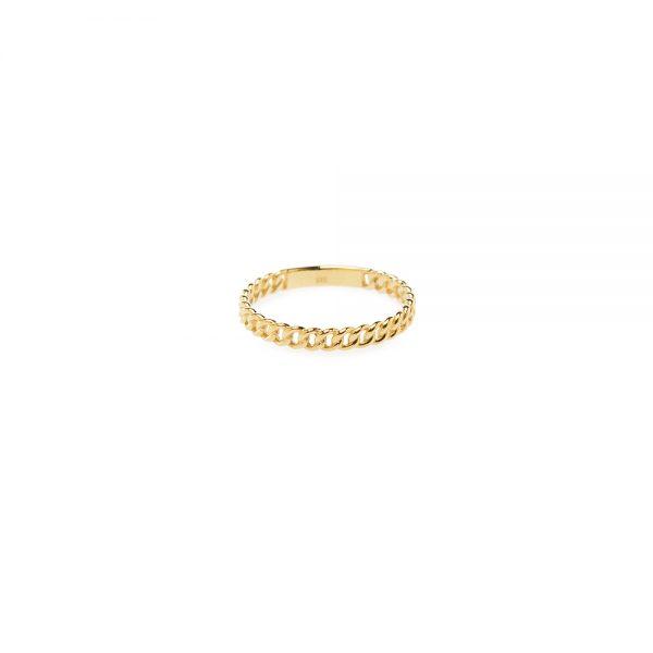"Rock n Roll Ring -  - Η απόλυτη τάση της πλεκτής αλυσίδας σε χρυσό 14Κ δαχτυλίδι. Δυναμικό αλλά ταυτόχρονα εντυπωσιακό δαχτυλίδιπου μπορεί να φορεθεί μόνο του ή και σε συνδυασμό με περισσότερα δαχτυλίδια όπως το <<knot>> ή το <<angel>>> απότη συλλογή της Μάγιας. Με διαχρονική διάθεση έτσι ώστε να μην το αποχωριστείς από πάνω σου!  <span style=""color: #000000;font-family: -apple-system-font;font-size: 12px;line-height: 16px""></span>"