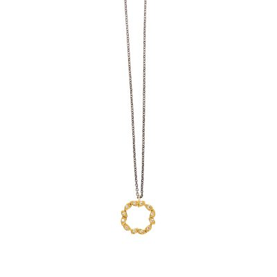 Glory Necklace -  - A necklace with a shorter chain made of 14K gold, forming a reeth designed with great detail. Unique and timeless, it can be one of the most classic pieces in your collection! You can combine it with the matchy earrings for a unified result.