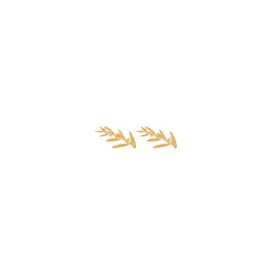 Leafy earrings -  -