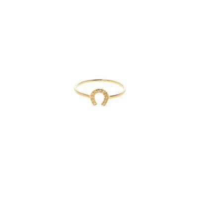 Sparkling Petal Ring -  -