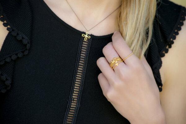 Braid Effect Ring -  -
